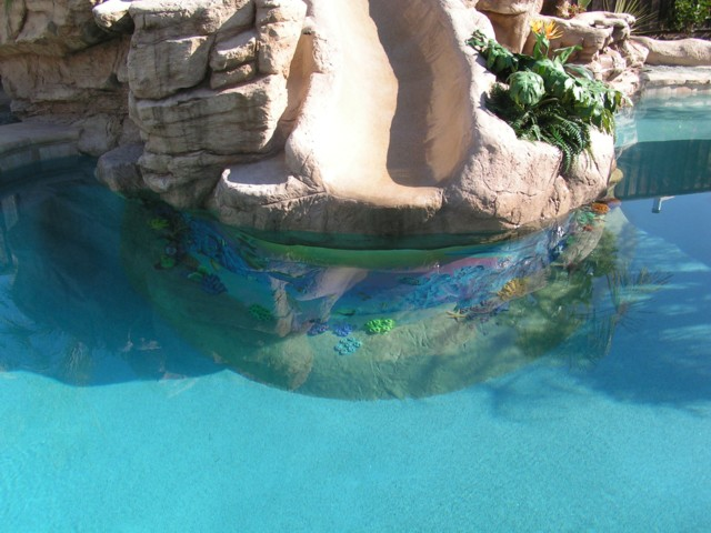 Swimming pool epoxy coating and pool paint information page.